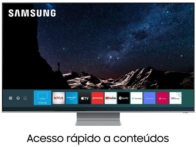 """Smart TV QLED 75"""" Samsung Pontos Quânticos 8K IA HDR3000 4HDMI"""