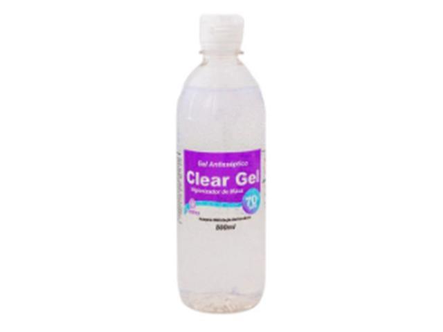 Álcool em Gel Higienizador para Mãos 70% Vidare Clear Gel 500ML