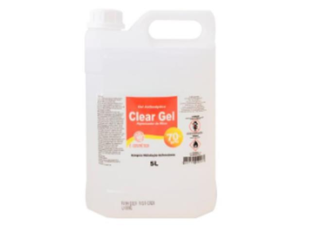 Álcool em Gel Higienizador para Mãos 70% Vidare Clear Gel 5 Litros