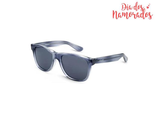 Óculos de Sol Infantil Vivara Quadrado em Acetato Cinza Azulado Filho