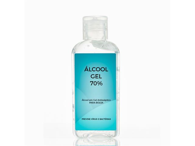 Álcool em Gel Antisséptico 70% Portátil de Bolsa
