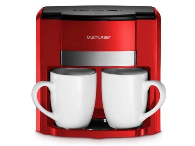 Cafeteira Elétrica Multilaser 2 Xícaras Vermelha 500W 220V - 1