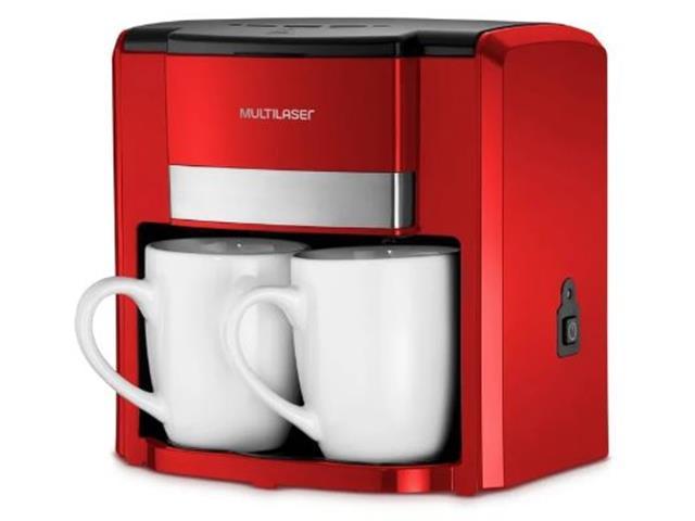 Cafeteira Elétrica Multilaser 2 Xícaras Vermelha 500W 220V