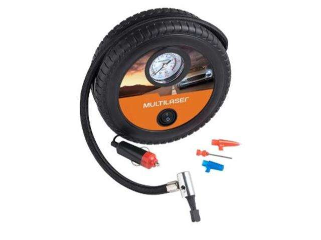 Compressor de Ar Roda Multilaser 12v 150psi 3 Bicos Adaptadores - 1