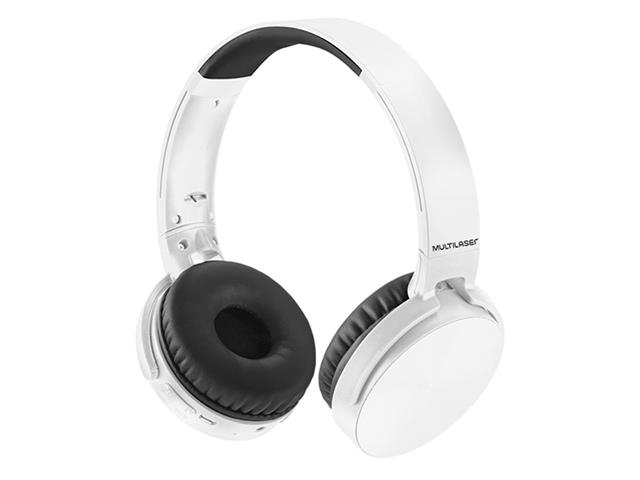 Headphone Bluetooth Multilaser Premium Sd/Aux/Fm Branco