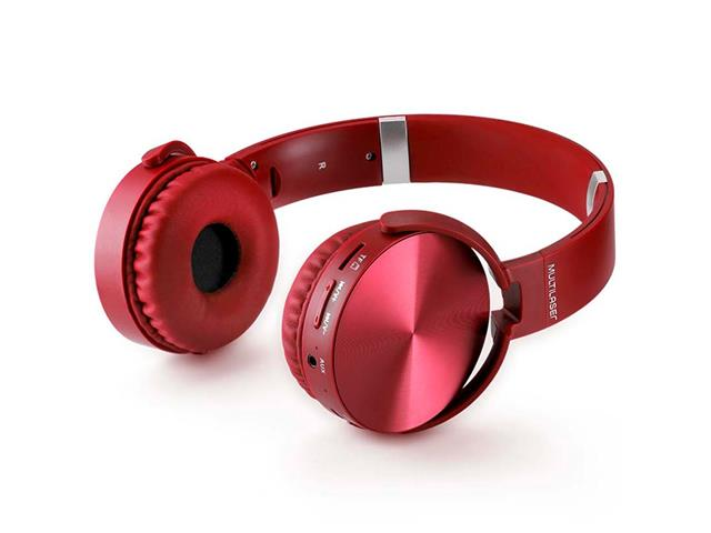 Headphone Bluetooth Multilaser Premium Sd/Aux/Fm Vermelho - 4
