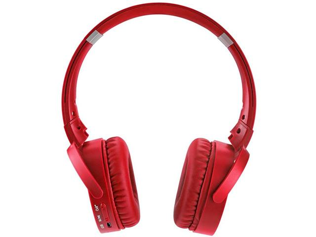 Headphone Bluetooth Multilaser Premium Sd/Aux/Fm Vermelho - 1