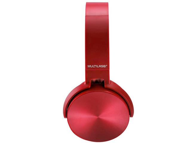 Headphone Bluetooth Multilaser Premium Sd/Aux/Fm Vermelho - 2