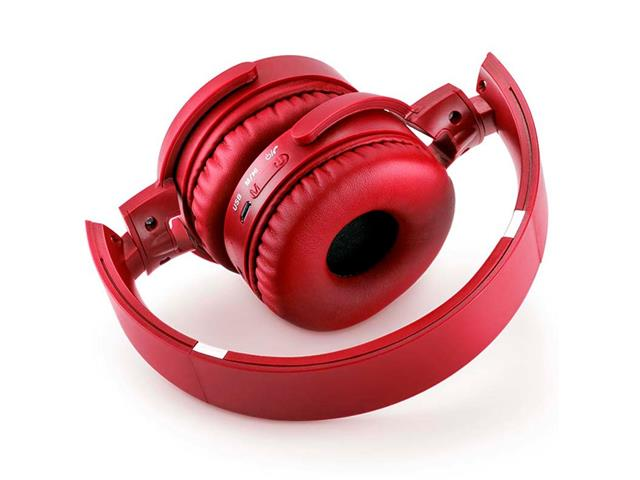 Headphone Bluetooth Multilaser Premium Sd/Aux/Fm Vermelho - 3