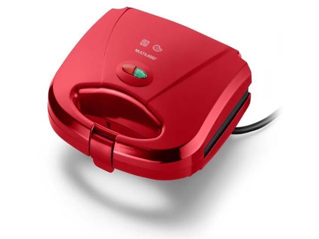 Sanduicheira e Minigrill Multilaser Gourmet Vermelha 750W 110V - 1