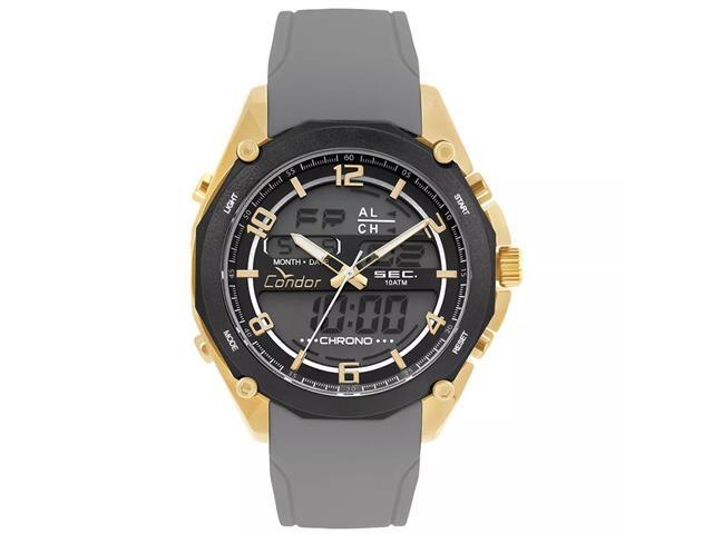 Relógio Condor Masculino Anadigi Dourado COY121E6AD/3P