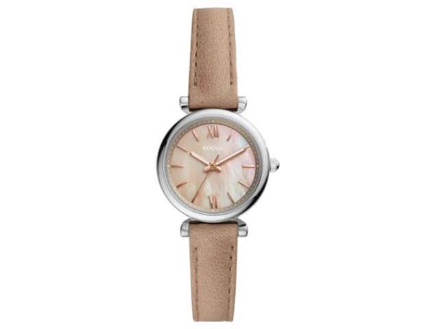 Relógio Fossil Feminino Carlie Mini Prateado em Couro ES4530/0KN