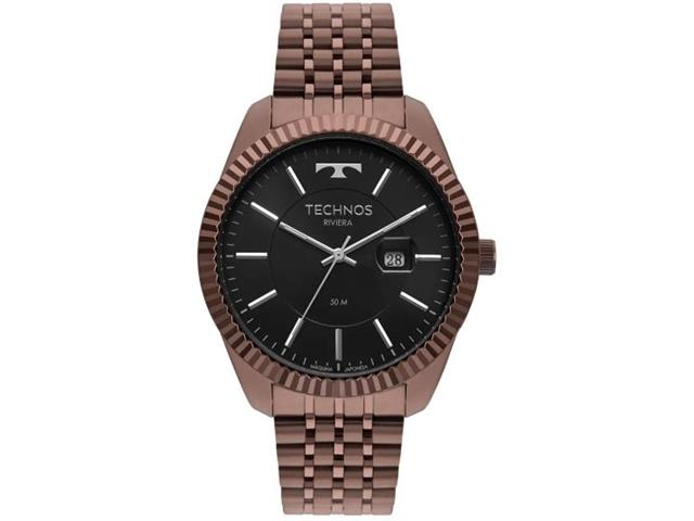 Relógio Technos Masculino Riviera Marrom 2115MSW/4P