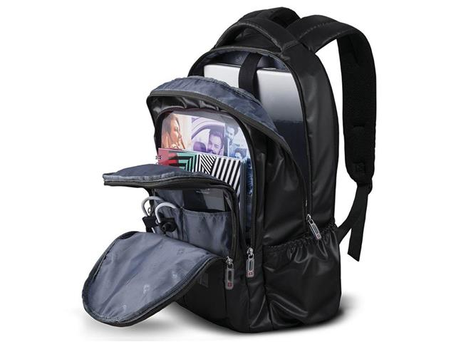 Mochila para Notebook Multilaser Swisspack Trip até 15.6 Pol Preta - 3