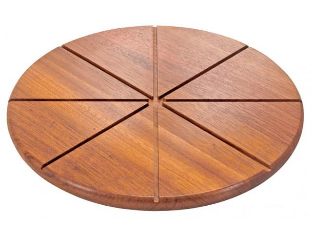 Tábua para Pizza com Rebaixe para Corte Tramontina Ø 40CM