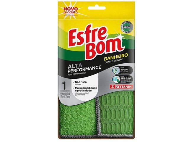 Pano para Limpeza de Banheiro Bettanin EsfreBom Alta Performance Verde