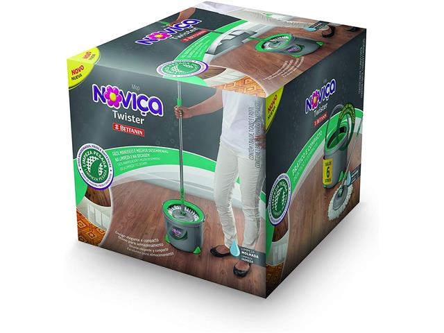 Mop Twister Bettanin Noviça com Balde 13 Litros - 1