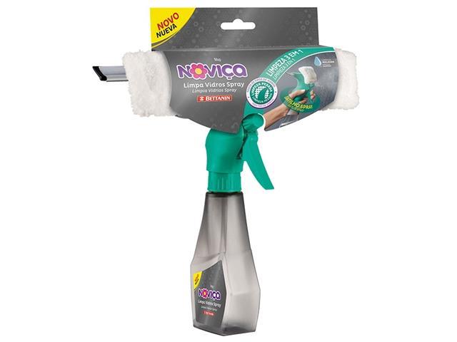 Mop Limpa Vidros Spray Bettanin Noviça com Rodo e Tecido - 2