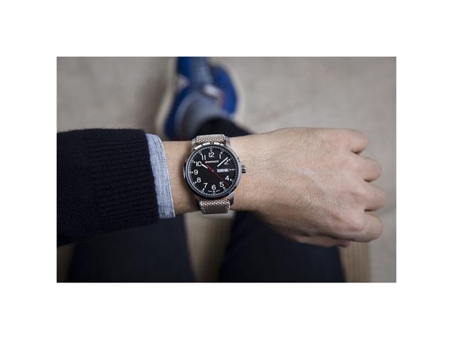 Relógio Wenger Attitude Prateado Pulseira Nylo Bege - 3