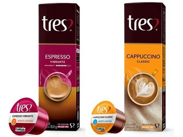 Combo 20 Cápsulas Três Corações Espresso Vibrante e Cappuccino Classic