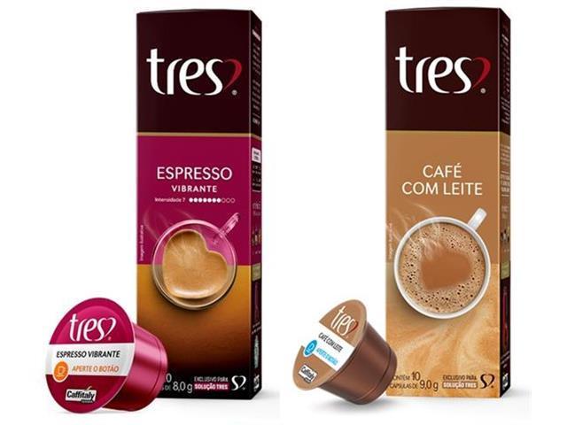 Combo 20 Cápsulas Três Corações Espresso Vibrante e Café com Leite
