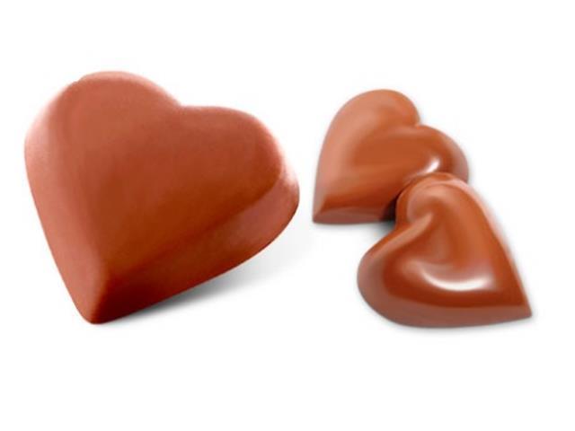 Bombons Havanna Corações de Chocolate e Recheado com Doce de Leite - 1
