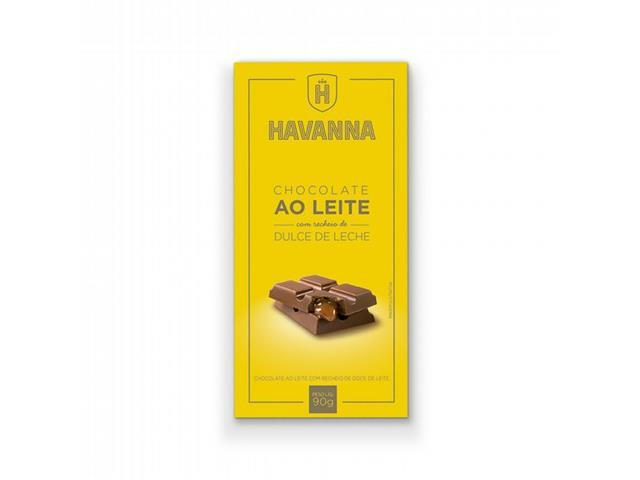 Combo Havanna 12 Barras de Chocolate ao Leite com Doce de Leite