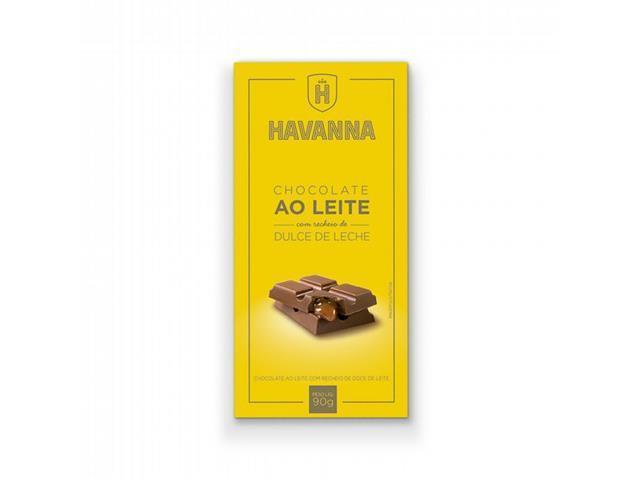 Combo Havanna 24 Barras de Chocolate ao Leite com Doce de Leite