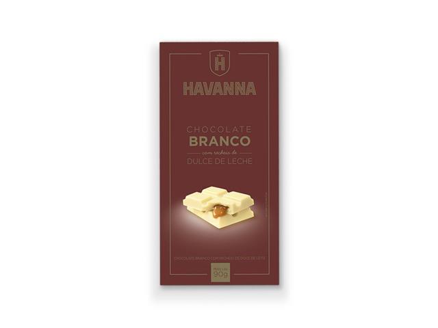 Combo Havanna 12 Barras de Chocolate Branco com Doce de Leite