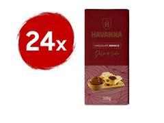 Combo Havanna 24 Barras de Chocolate Branco com Doce de Leite