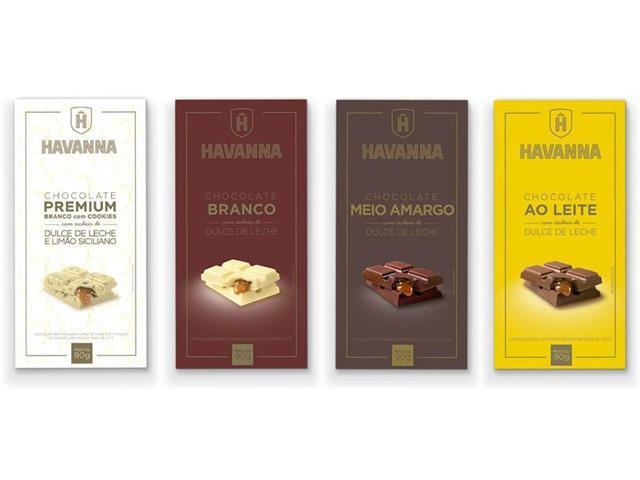 Combo Havanna Mix de Barras de Chocolate com 24 Unidades - 0