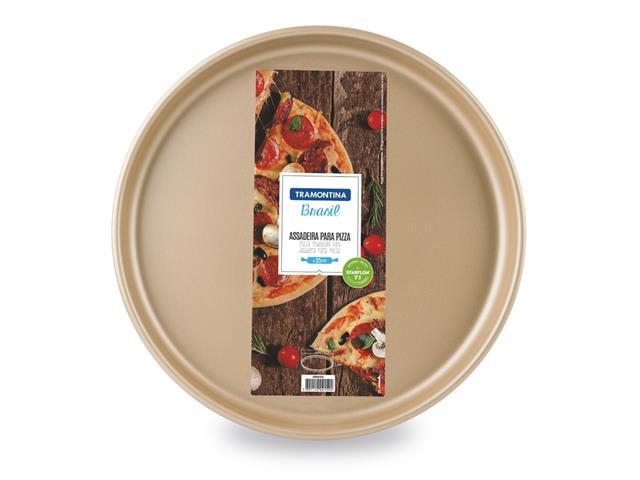 Assadeira para Pizza Tramontina Antiaderente Vermelha 35CM - 1