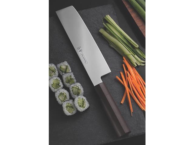 """Faca Nakiri Tramontina Sushi com Lâmina em Aço Inox e Cabo de Nylon 7"""" - 2"""