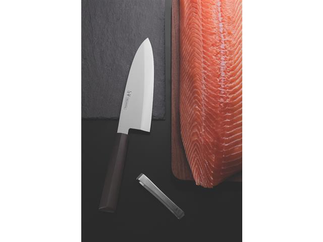 """Faca Deba Tramontina Sushi com Lâmina em Aço Inox e Cabo de Nylon 8"""" - 1"""