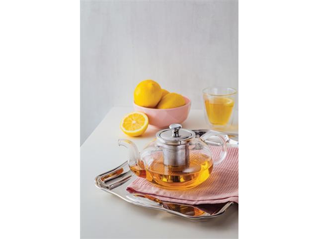 Bule para Chá Tramontina em Vidro e Aço Inox com Infusor 1 Litro - 3