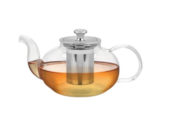 Bule para Chá Tramontina em Vidro e Aço Inox com Infusor 1 Litro - 1