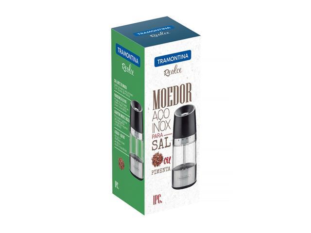 Moedor para Sal ou Pimenta Tramontina em Aço Inox e Acrílico - 5