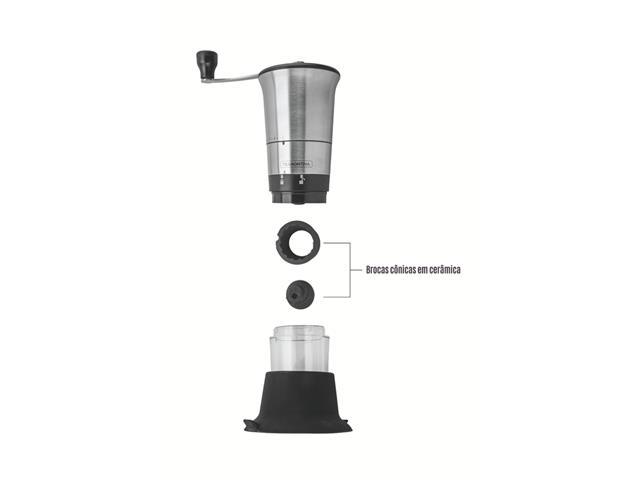 Moedor para Café Tramontina Realce em Aço Inox e Moinho em Cerâmica - 1