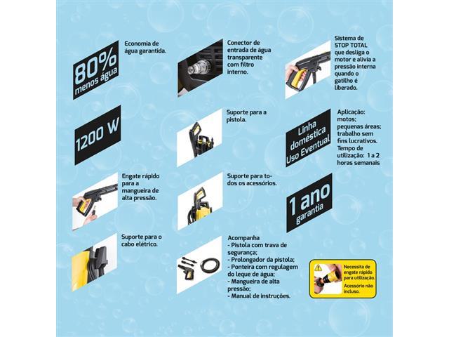 Lavadora de Alta Pressão Tramontina 1200W 110V - 3