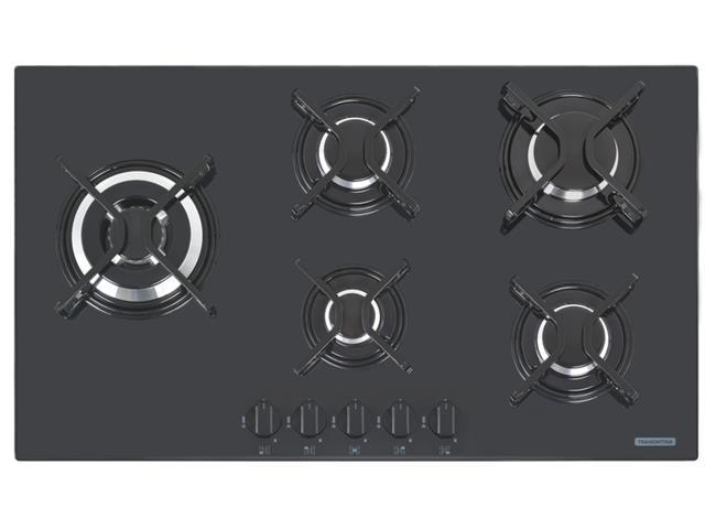 Cooktop a Gás Tramontina Penta Side Plus em Vidro Automático 5 Bocas - 1