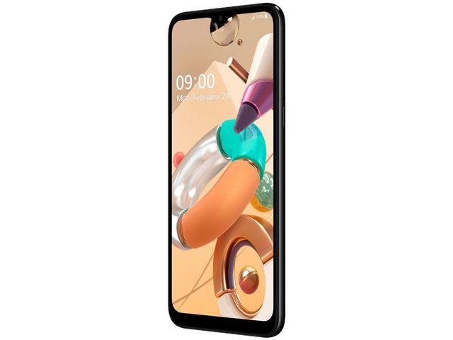 """Smartphone LG K41S Preto 32GB, RAM de 3GB, Tela de 6,55"""" V- Notch HD+ 20:9, Inteligência Artificial, Câmera Quádrupla e Processador Octa-Core 2.0 - 4"""