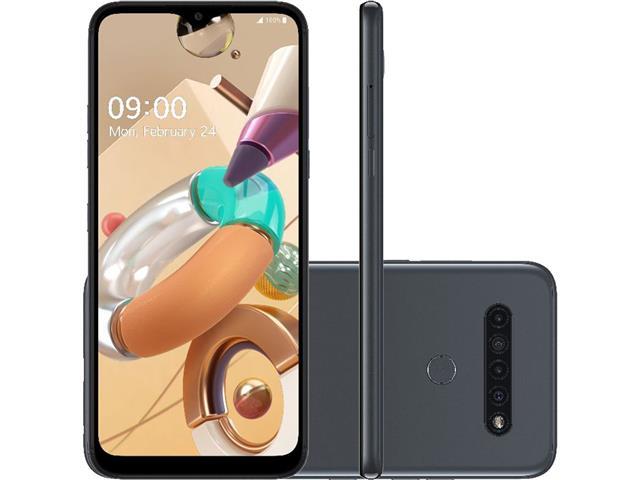 """Smartphone LG K41S 4G 32GB Duo 6.55""""HD+ IA Quad-Câm 13+5+2+2MP Titânio"""