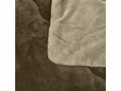 Edredom Buettner Queen Plush Flanel Dupla Face Kaki - 2