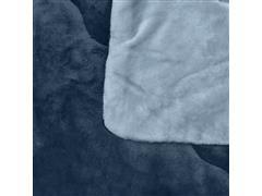 Edredom Buettner Casal Plush Flanel Dupla Face Azul - 2