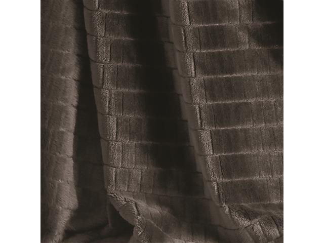 Manta Buettner Solteiro Ambiance Blocos Brilho Flannel Chocolate - 1