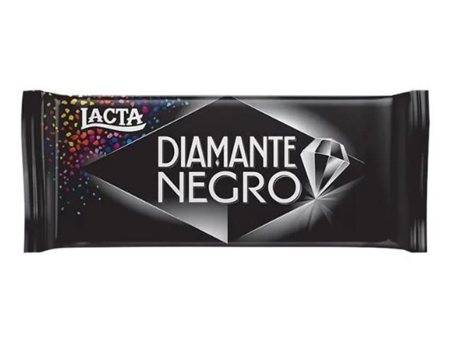 Caixa Chocolate Lacta Diamante Negro 17 Unidades com 90G