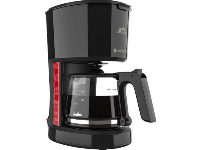 Cafeteira Elétrica Cadence Urban Pop Vermelha e Preta 1,2 Litros 110V