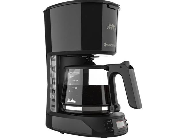 Cafeteira Elétrica Cadence Urban Pop Programável Preta 220V