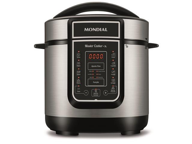 Panela de Pressão Elétrica Digital Mondial Master Cooker 3 Litros 110V