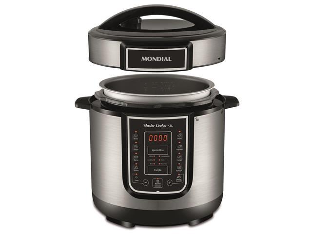 Panela de Pressão Elétrica Digital Mondial Master Cooker 3 Litros 110V - 1